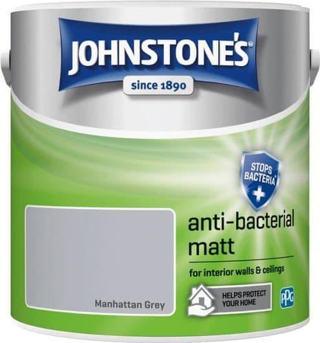 Johnstone's Anti Bacterial Matt 2.5L - Manhattan Grey